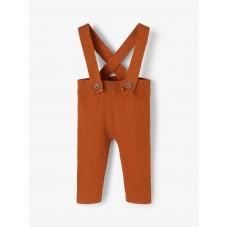 Roestbruin salopetje - Nbmvigo knit pant glazed ginger /melange