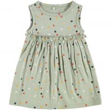 Muntgroen kleedje met gekleurde bolletjes - Nbfdaomi desert sage