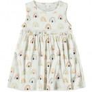 Wit kleedje met regenbogen - Nbfdaomi snow white