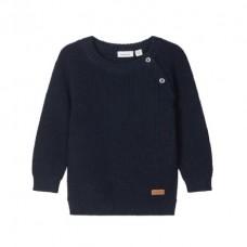Donkerblauwe gebreide sweater - Nbmtialex dark sapphire