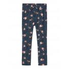 Blauwe broek met stipjes en bloemen - Nkfvinaya pant dark sapphire