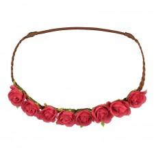 Haarlint met roze roosjes