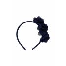 Blauwe diadeem met bloemetjes - Fiona