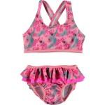 Roze bikini met bloemetjes - nitzana bikini shield flamingo pink