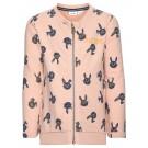 Oud roze trui met konijntjes - nitefelise grey melange - maat 98 (Geboortelijst Moon B.)