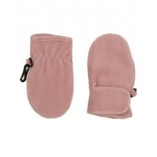 Oud roze fleece wantjes-noos