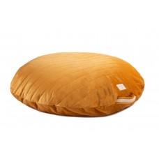 Okergeel groot velvet zitkussen - Sahara velvet beanbag farniente yellow