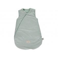 Muntgroene slaapzak met stipjes - Cocoon mid-season sleeping bag 0-6M white bubble/aqua