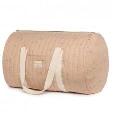 Weekendtas groot roze met print - New york weekend bag large willow dune