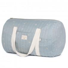 Weekendtas groot lichtblauw met print - New york weekend bag large willow soft blue