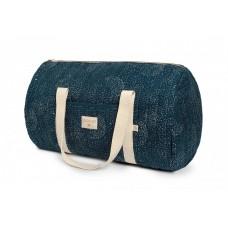 Weekendtas groot donkerblauw met stippen - New york weekend bag large gold bubble/night blue