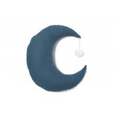 Donkerblauw kussen maan - Pierrot moon cushion night blue