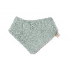 Grijsgroene teddy bandana - So cute newborn bandana green