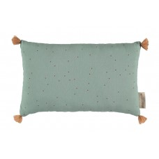 Rechthoekig kussen met stipjes - Sublim cushion toffee sweet dots/ eden green