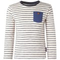 Beige gestreepte t-shirt lange mouwen - off white Gera