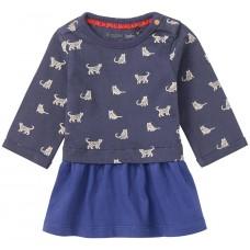 Blauw kleedje met katten - midnight blue greccio