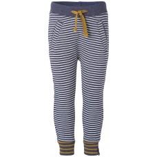 Zacht en comfortabel blauw strepenbroek- navy melange gazzo