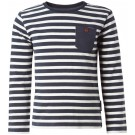 Blauw gestreepte sweater - navy stripe longsleeve Nori - maat 116 (Wenslijst Pherre V.L)