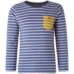 Petrolblauw gestreepte t-shirt lange mouwen - Gera french blue