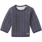 Donkerblauwe sweater met motief- true navy sweater