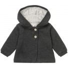 Grijs babyvestje - charcoal cardigan knit indio