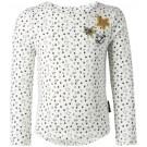 Ecru t-shirt lange mouwen met sterretjes - off white Irgoli