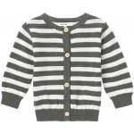 Gestreepte grijze babycardigan - charcoal melange u cardigan knit daone