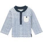 Stoer shirtje met zigzagpatroon - indigo blue dighton