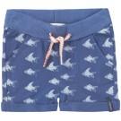 Blauw babyshortje met visjes - breight blue short farell