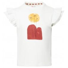 Wit t-shirt met print - Lotherton snow white