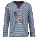 Blauw- grijs gestreepte t-shirt off the line - taam indigo blue