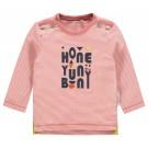 Frambooskleurig gestreept t-shirtje - Blush Thorben