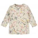 Beige kleedje met vlinders - weddington - maat 56 (Geboortelijst Lina C.)