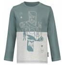 Grijs groene t-shirt met speelkaart - Vardon  (stapelkorting)