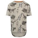 Beige t-shirt korte mouwen met dinoskelet