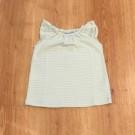 Muntgroen kleedje met strepen - Grey dress zoe - maat 62-68 (Geboortelijst Lea F.) (Geboortelijst Lea F.)