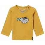 Mosterdgele t-shirt met kogelvis -  mostard bogota
