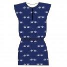 Blauw kleed met theepotjes - dress roxy tea (stapelkorting)