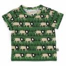 Olijfgroene t-shirt met leeuwen - Lion shirt Emi  - maat 74-80 (Geboortelijst ...)