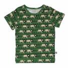 Olijfgroene t-shirt met leeuwen - Lion shirt Adam