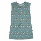 Grijsblauw kleedje met regenbogen - Dress lula rainbow
