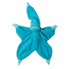 Turquoise- lichtblauw peppa sisco- knuffelpopje