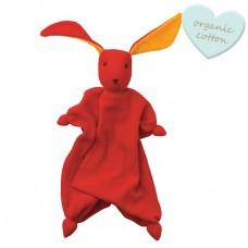 Rood / oranje peppa Tino- knuffelkonijntje - organic