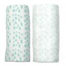 Peppa gift set met 2 xl tetradoeken met huisjes - white mint house