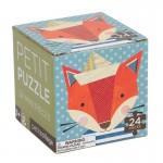 Mini puzzel 24stuks : vos met papieren hoedje