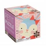Mini puzzel 24stuks : konijn met strik
