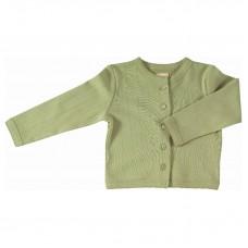 Olijfgroene cardigan - Pointelle cardiagan green