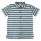 Hemdje korte mouwen met strepenprint - jersey shirt striped adriatic blue