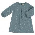 Grijsblauw kleedje met stipjes