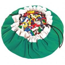 Speeltapijt -/ opbergzak groen